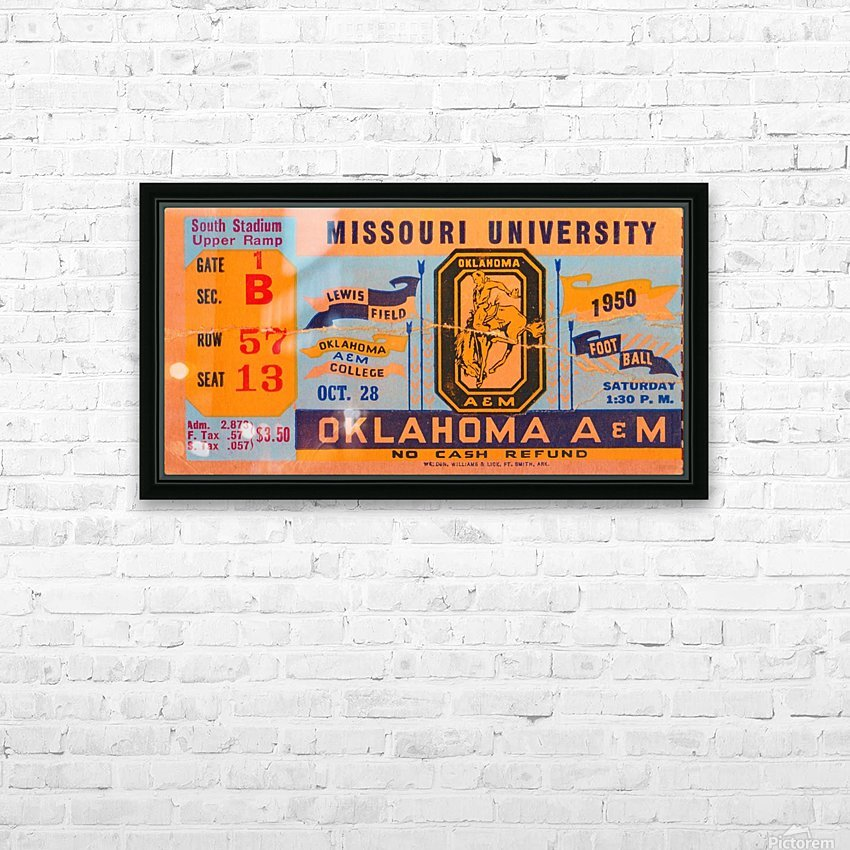 1950_College_Oklahoma vs. Oklahoma State_Lewis Field_Stillwater_Row One Brand HD Sublimation Metal print with Decorating Float Frame (BOX)