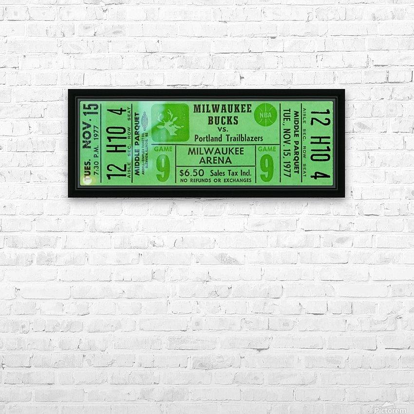 1977_National Basketball Association_Milwaukee Bucks_Row One Brand HD Sublimation Metal print with Decorating Float Frame (BOX)