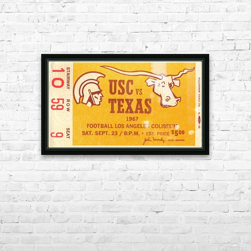 1967 USC vs. Texas  HD Sublimation Metal print with Decorating Float Frame (BOX)