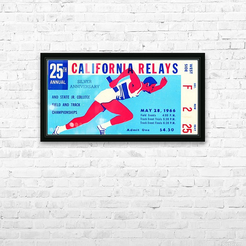 1966_Track and Field_California Relays_Row One Brand HD Sublimation Metal print with Decorating Float Frame (BOX)