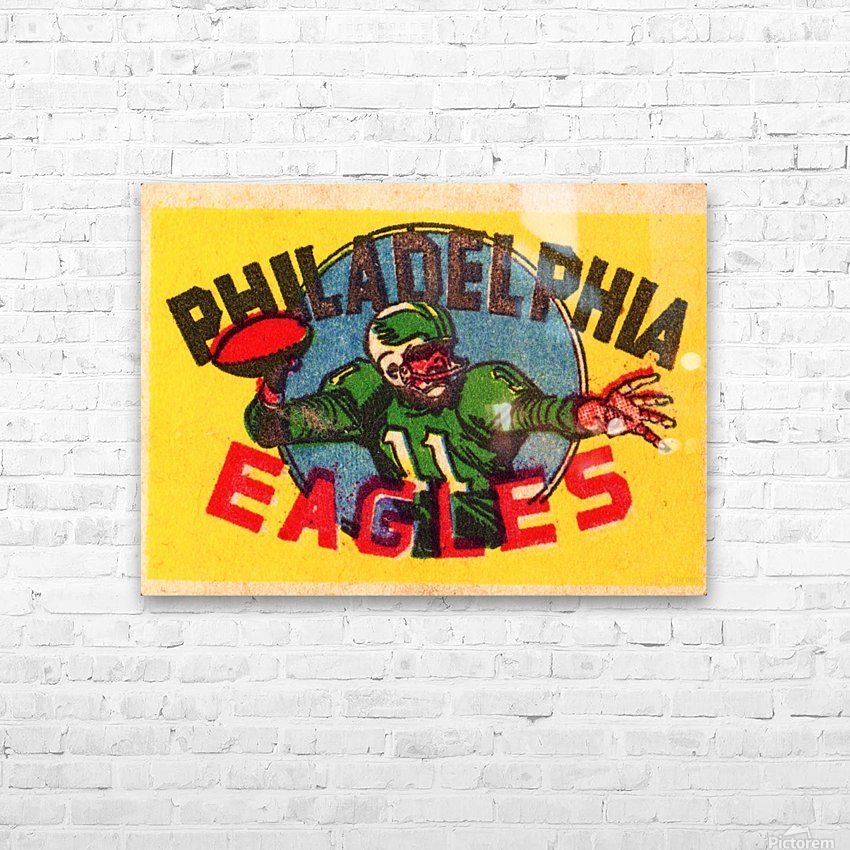 1970s_National Football League_Philadelphia Eagles_Row One Brand HD Sublimation Metal print with Decorating Float Frame (BOX)