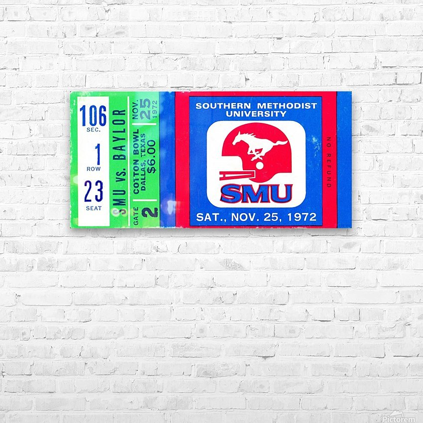 1972_College_Football_Baylor vs. SMU_Cotton Bowl Stadium_Dallas_Row One Brand HD Sublimation Metal print with Decorating Float Frame (BOX)