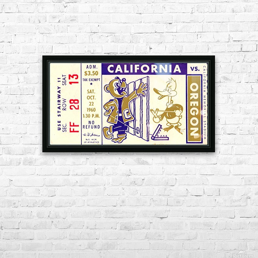 1960_College_Football_California vs. Oregon_Memorial Stadium_Row One Brand HD Sublimation Metal print with Decorating Float Frame (BOX)