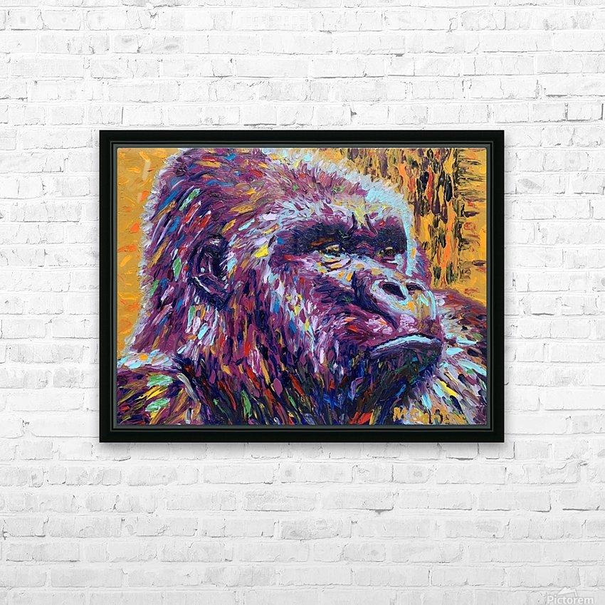 Gorilla Closeup HD Sublimation Metal print with Decorating Float Frame (BOX)
