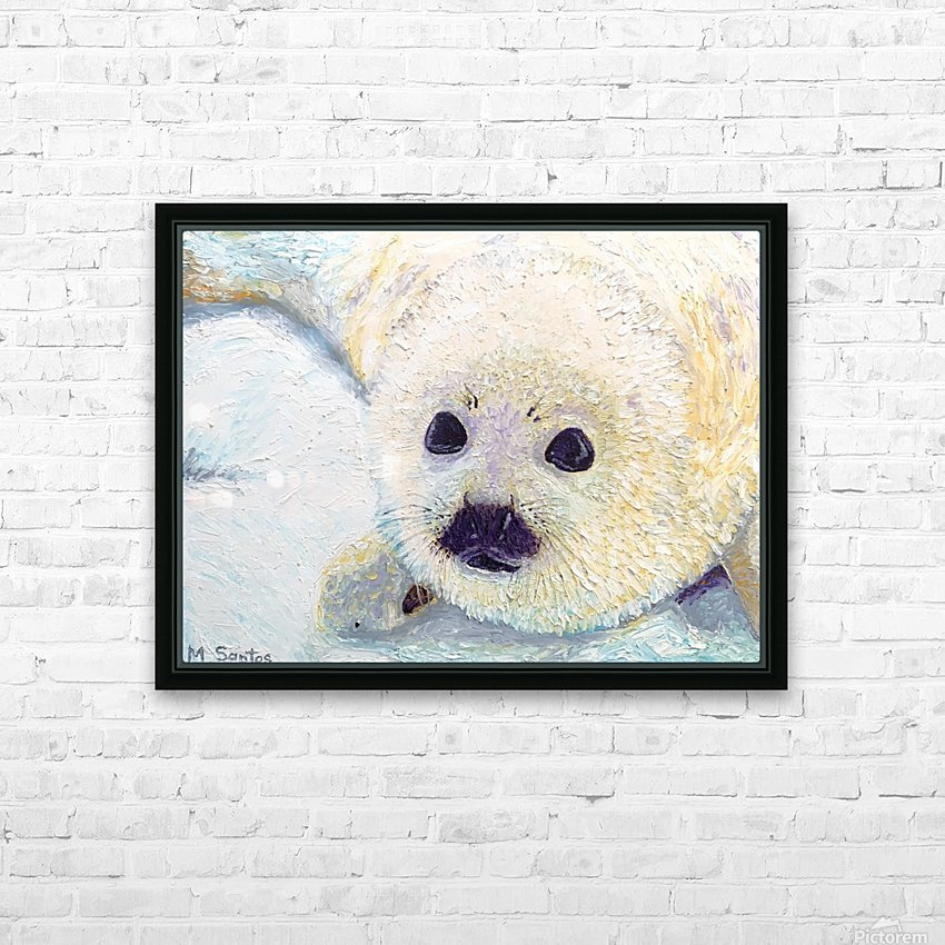 Seal Pup Closeup HD Sublimation Metal print with Decorating Float Frame (BOX)