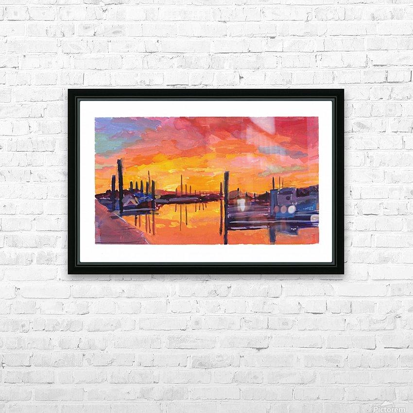 Bodega Bay Sunset HD Sublimation Metal print with Decorating Float Frame (BOX)