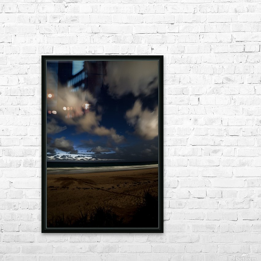 Shadow of the Palm  HD Sublimation Metal print with Decorating Float Frame (BOX)