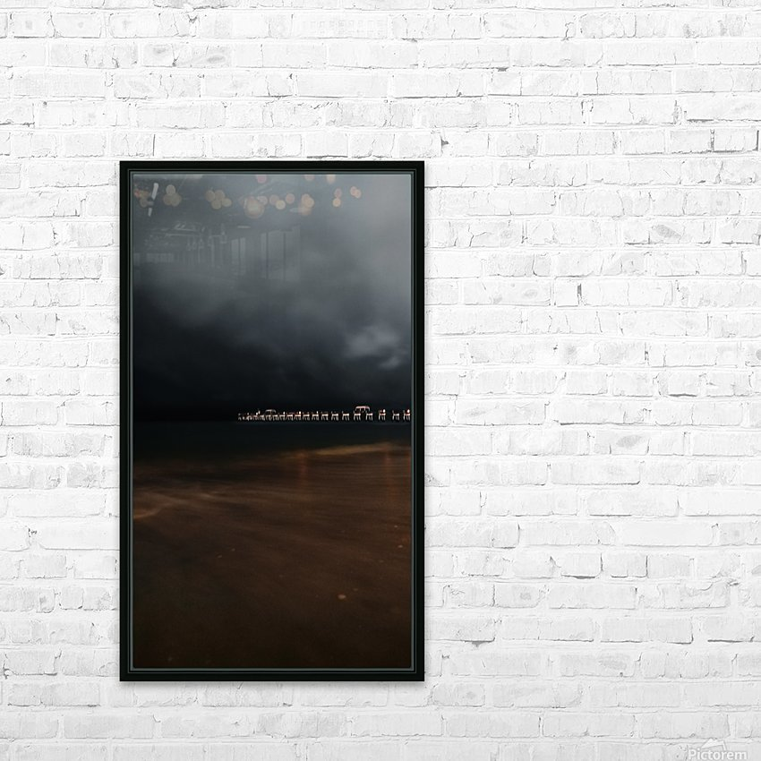 Out of the Blue Into the Black HD Sublimation Metal print with Decorating Float Frame (BOX)