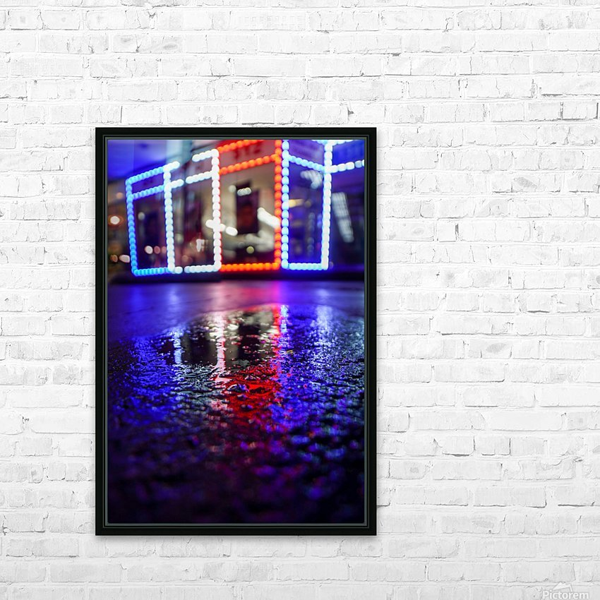 Red White and Bokeh HD Sublimation Metal print with Decorating Float Frame (BOX)