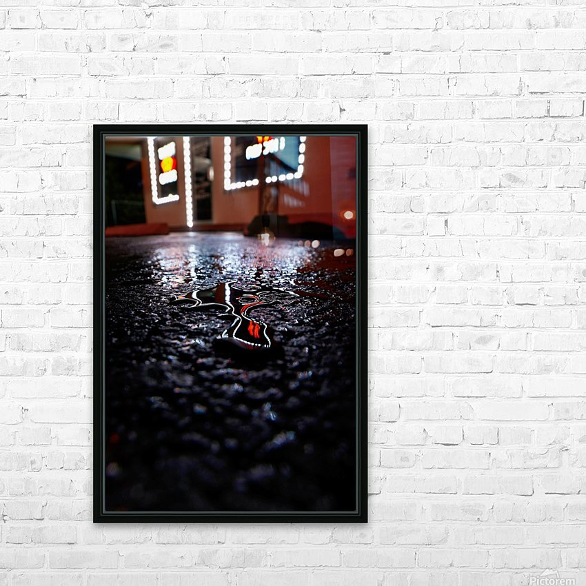 Reflect Drip Woo HD Sublimation Metal print with Decorating Float Frame (BOX)