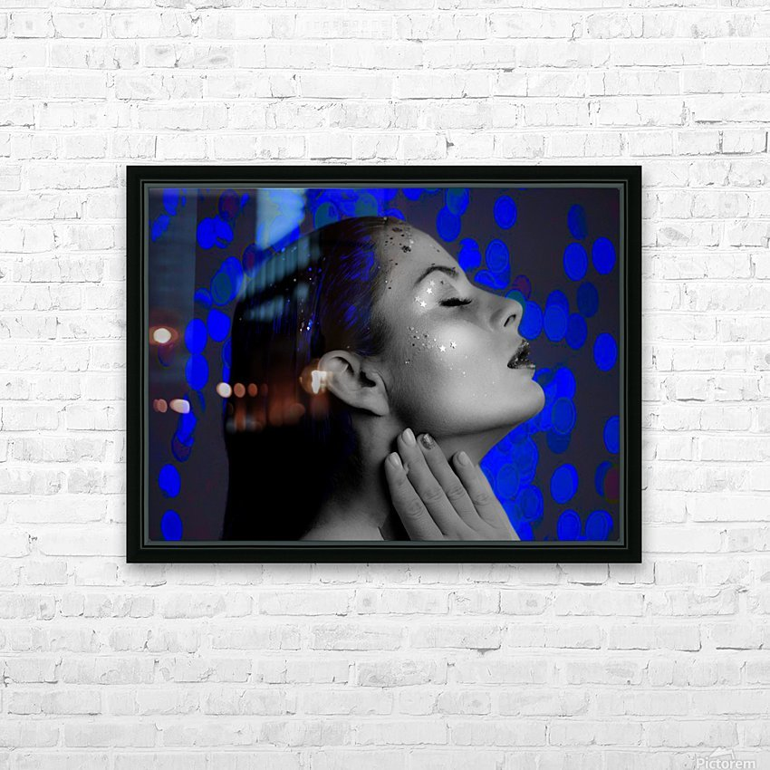 Blue HD Sublimation Metal print with Decorating Float Frame (BOX)