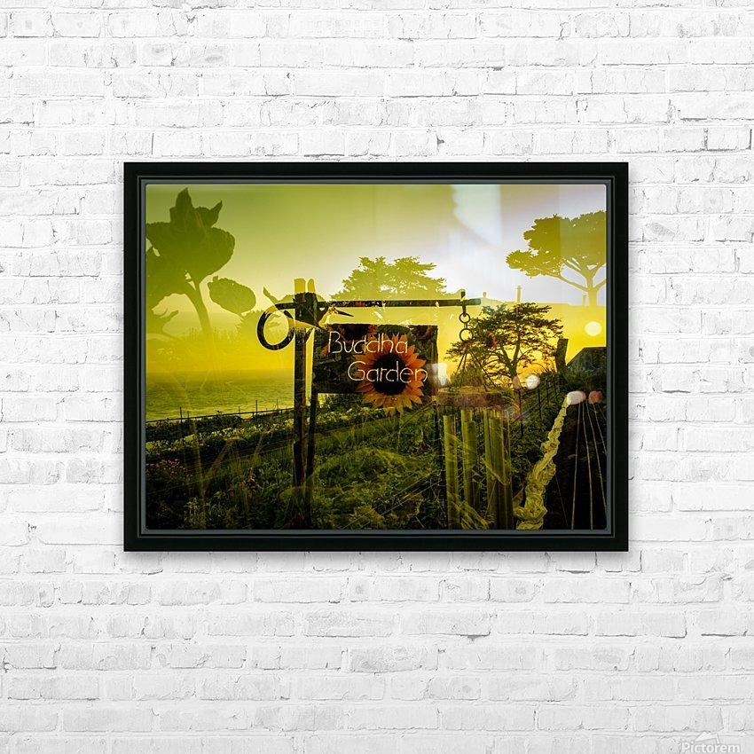 Buddha Was Here HD Sublimation Metal print with Decorating Float Frame (BOX)