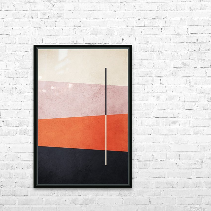 Textured Shapes 06 - Abstract Geometric Art Print HD Sublimation Metal print with Decorating Float Frame (BOX)