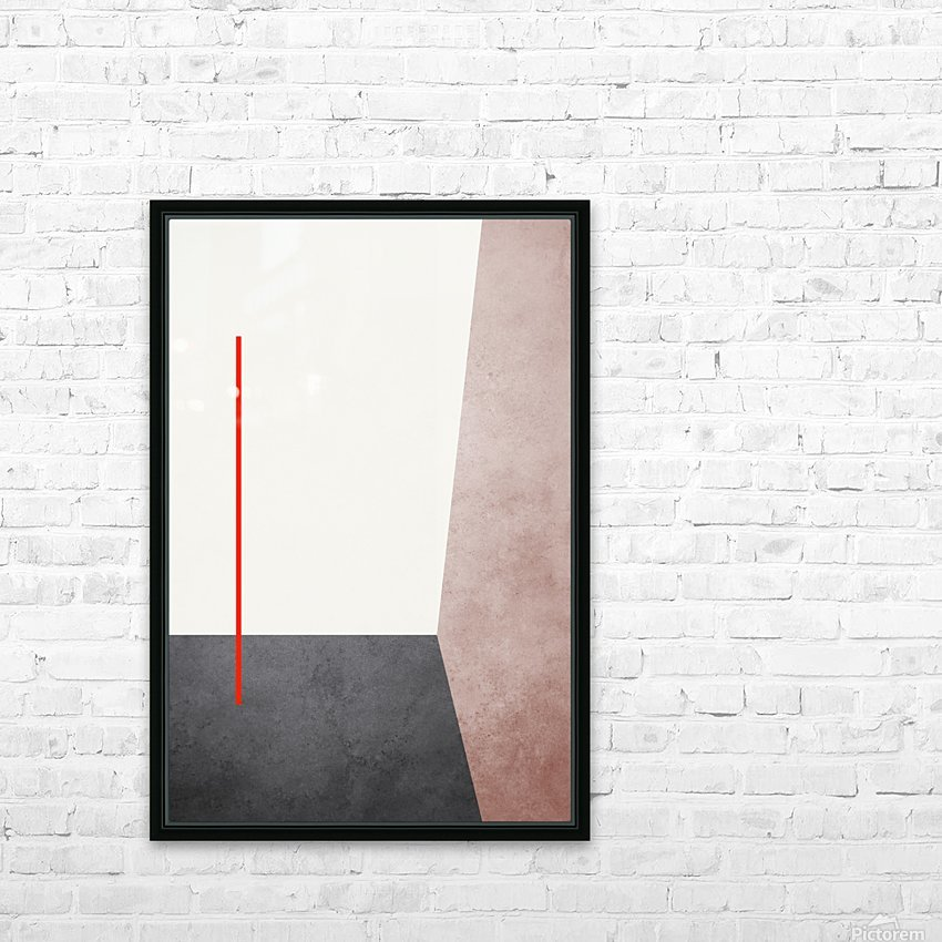 Textured Shapes 04 - Abstract Geometric Art Print HD Sublimation Metal print with Decorating Float Frame (BOX)