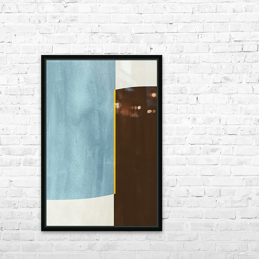 Textured Shapes 05 - Abstract Geometric Art Print HD Sublimation Metal print with Decorating Float Frame (BOX)