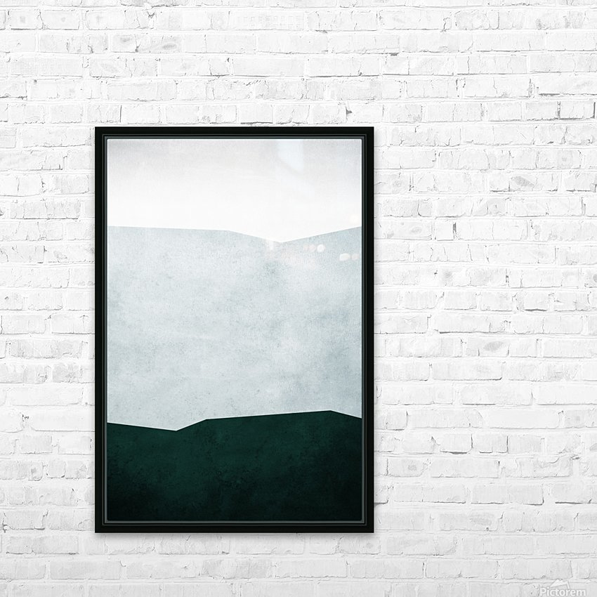 Textured Shapes 12 - Abstract Geometric Art Print HD Sublimation Metal print with Decorating Float Frame (BOX)