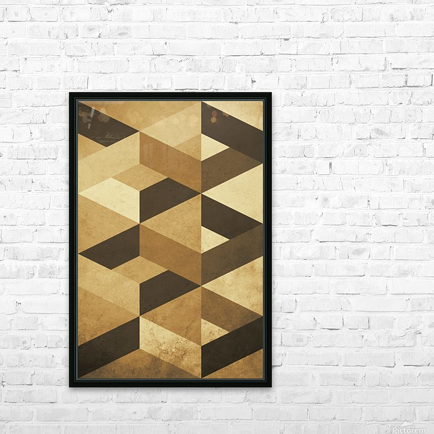 Textured Shapes 07 - Abstract Geometric Art Print HD Sublimation Metal print with Decorating Float Frame (BOX)