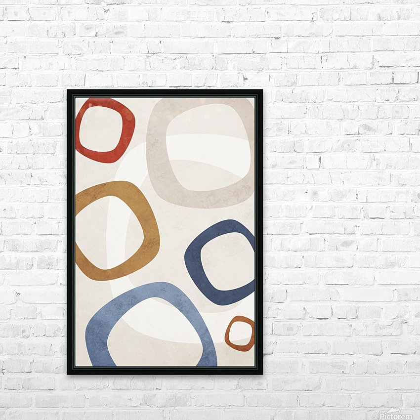 Textured Shapes 08 - Abstract Geometric Art Print HD Sublimation Metal print with Decorating Float Frame (BOX)