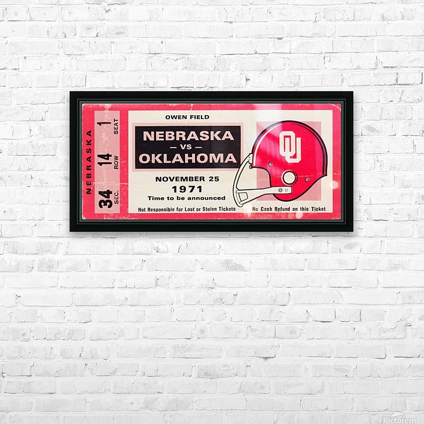 1971 Game of the Century Nebraska vs. Oklahoma HD Sublimation Metal print with Decorating Float Frame (BOX)