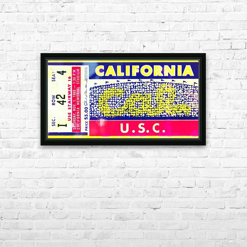 1969 Cal Bears Ticket Stub HD Sublimation Metal print with Decorating Float Frame (BOX)
