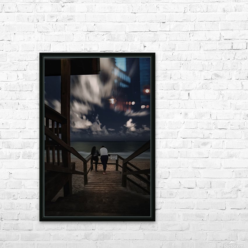 Midnight Love  1 HD Sublimation Metal print with Decorating Float Frame (BOX)