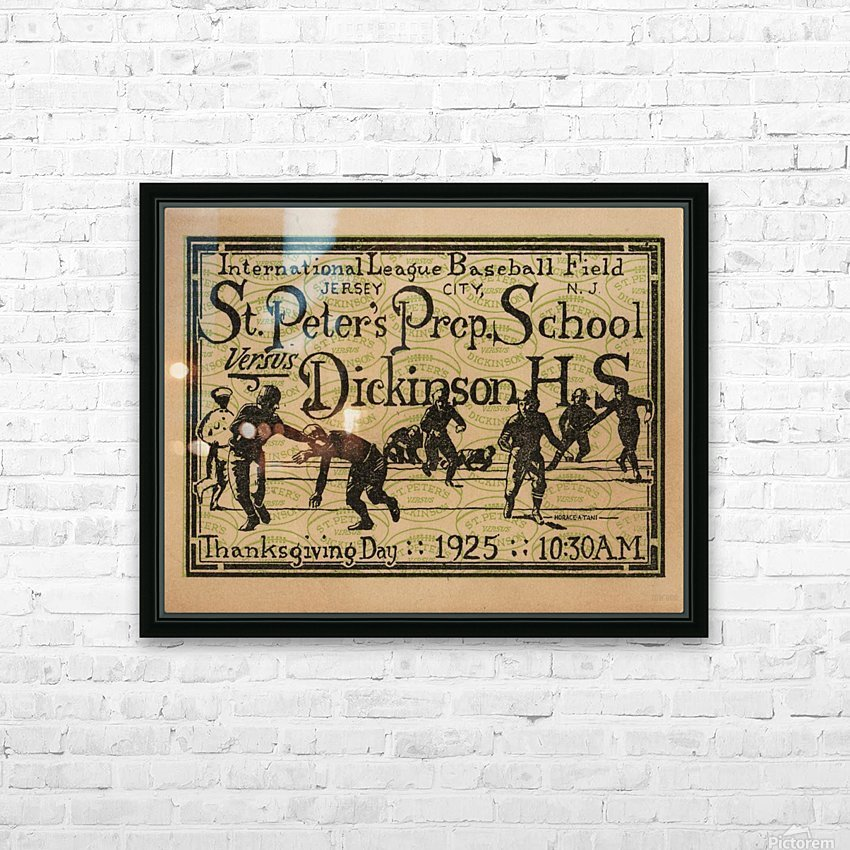 1925 St. Peters Prep HD Sublimation Metal print with Decorating Float Frame (BOX)