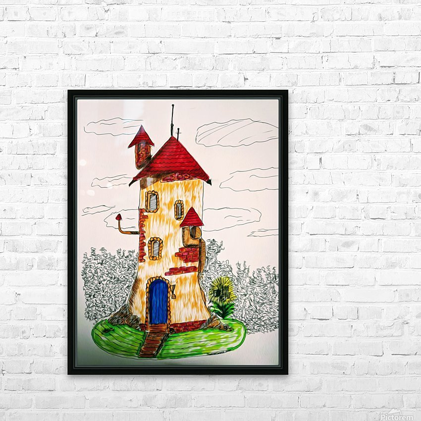 Wizard Tower HD Sublimation Metal print with Decorating Float Frame (BOX)