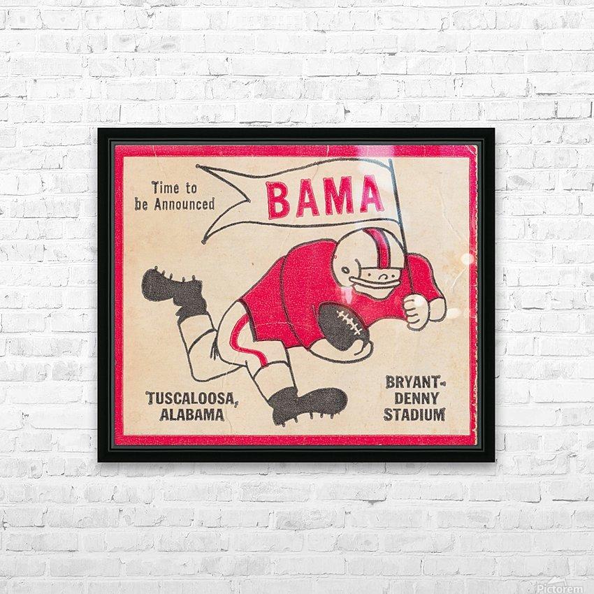1980 Bama Football Player Flag Art_Tuscaloosa Alabama_Bryant Denny Stadium_Ticket Stub Art Creations HD Sublimation Metal print with Decorating Float Frame (BOX)