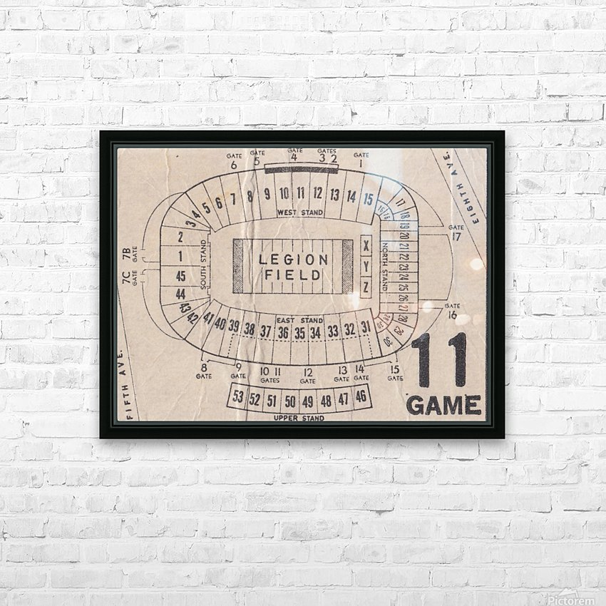 Legion Field Stadium Map Art_Vintage College Football Map Art HD Sublimation Metal print with Decorating Float Frame (BOX)