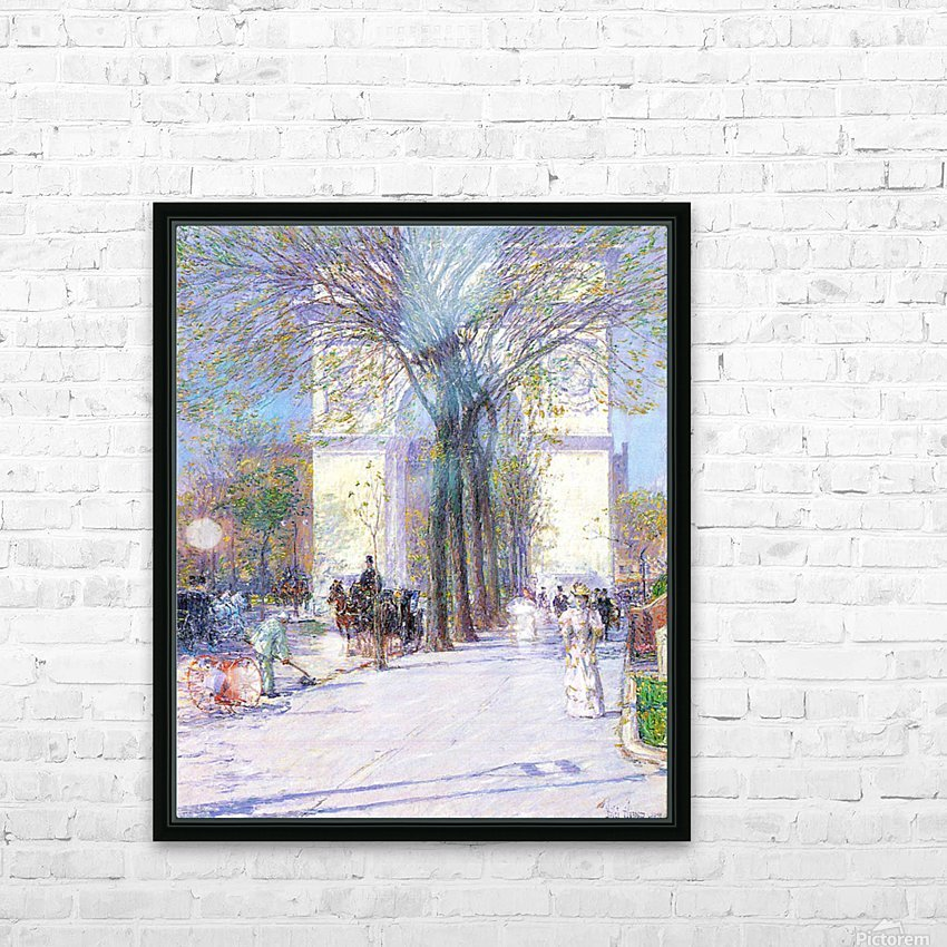 Washington triumphal arch in spring by Hassam HD Sublimation Metal print with Decorating Float Frame (BOX)
