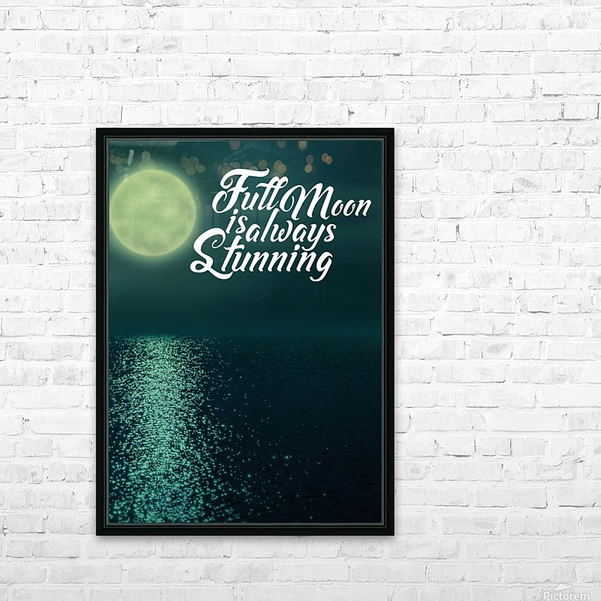 Full Moon is always Stunning HD Sublimation Metal print with Decorating Float Frame (BOX)
