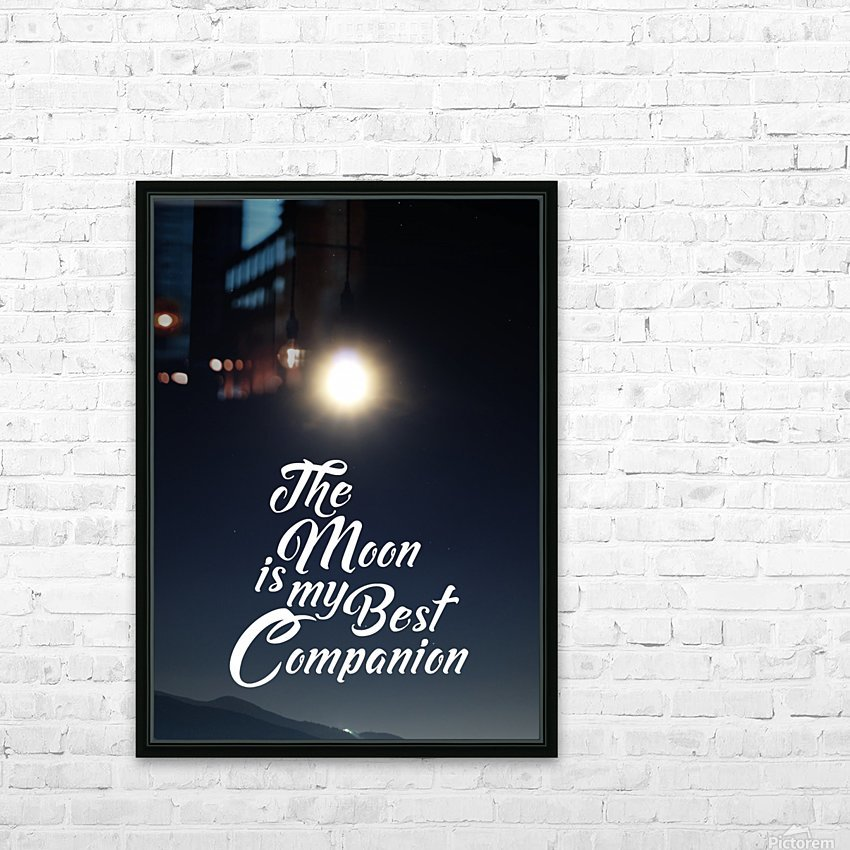 The Moon is Best Companion HD Sublimation Metal print with Decorating Float Frame (BOX)