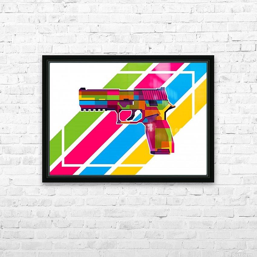 SIG P250 Handgun HD Sublimation Metal print with Decorating Float Frame (BOX)