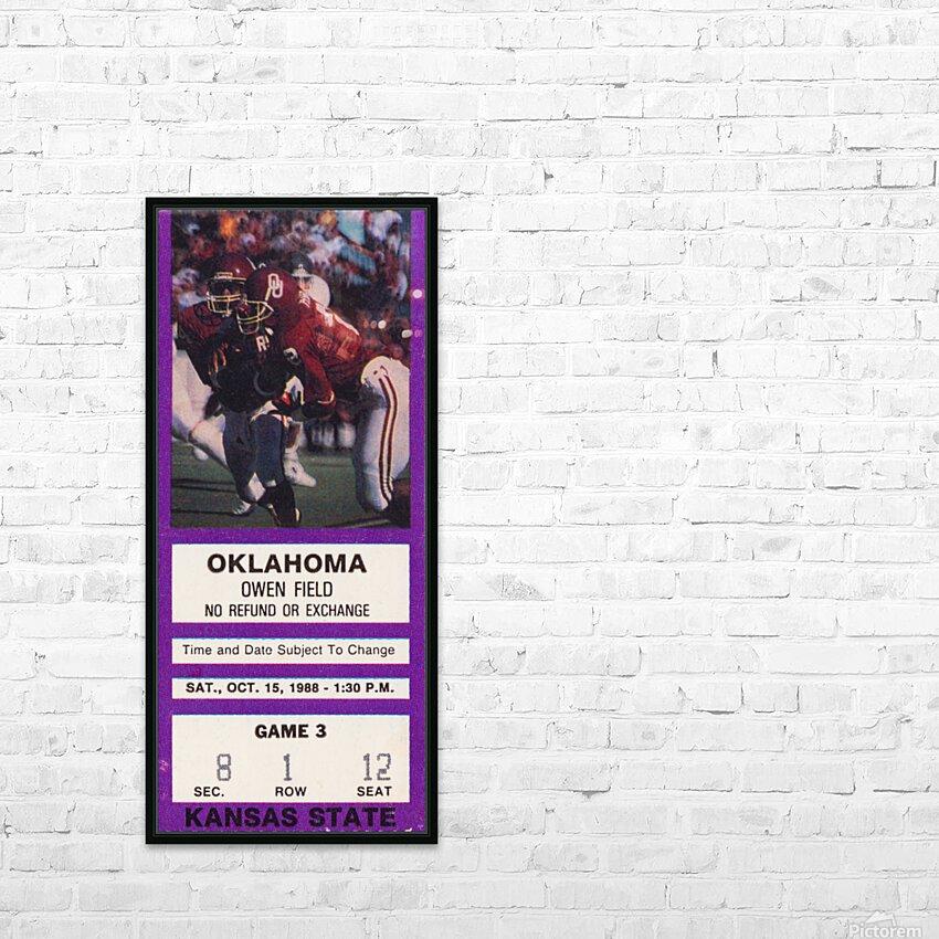 1988 Kansas State vs. Oklahoma HD Sublimation Metal print with Decorating Float Frame (BOX)
