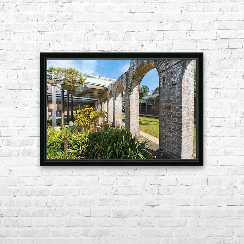 Paddington Reservoir gardens HD Sublimation Metal print with Decorating Float Frame (BOX)