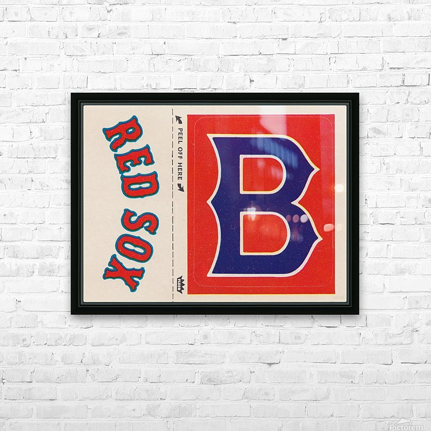 1978 Boston Red Sox Fleer Decal Reproduction 1200 DPI Scan Art by Row One™ HD Sublimation Metal print with Decorating Float Frame (BOX)