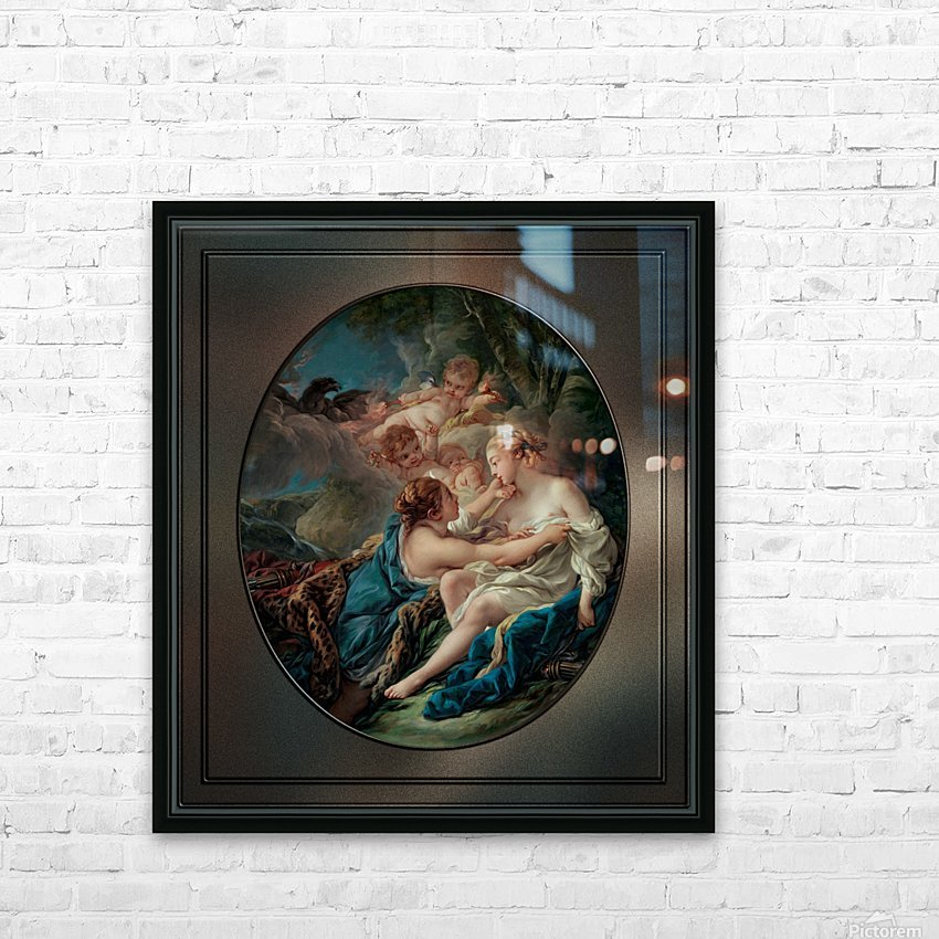Jupiter In The Guise Of Diana And Callisto by Francois Boucher HD Sublimation Metal print with Decorating Float Frame (BOX)