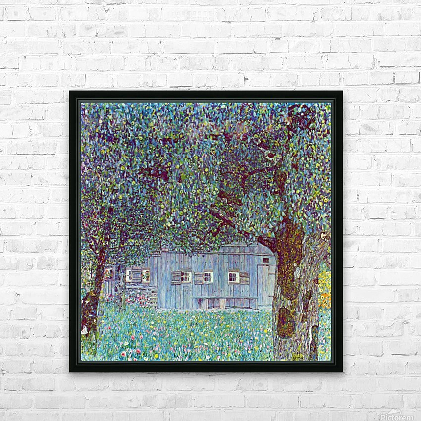 Farmhouse in Upper Austria by Klimt HD Sublimation Metal print with Decorating Float Frame (BOX)