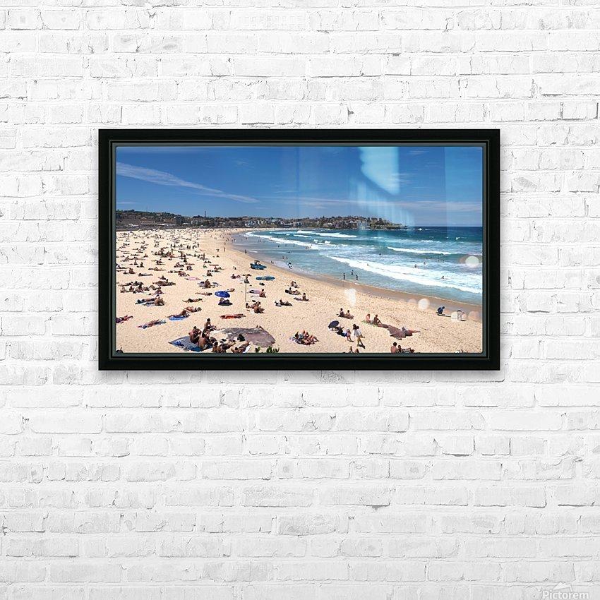 Bondi Beach Panoramic HD Sublimation Metal print with Decorating Float Frame (BOX)