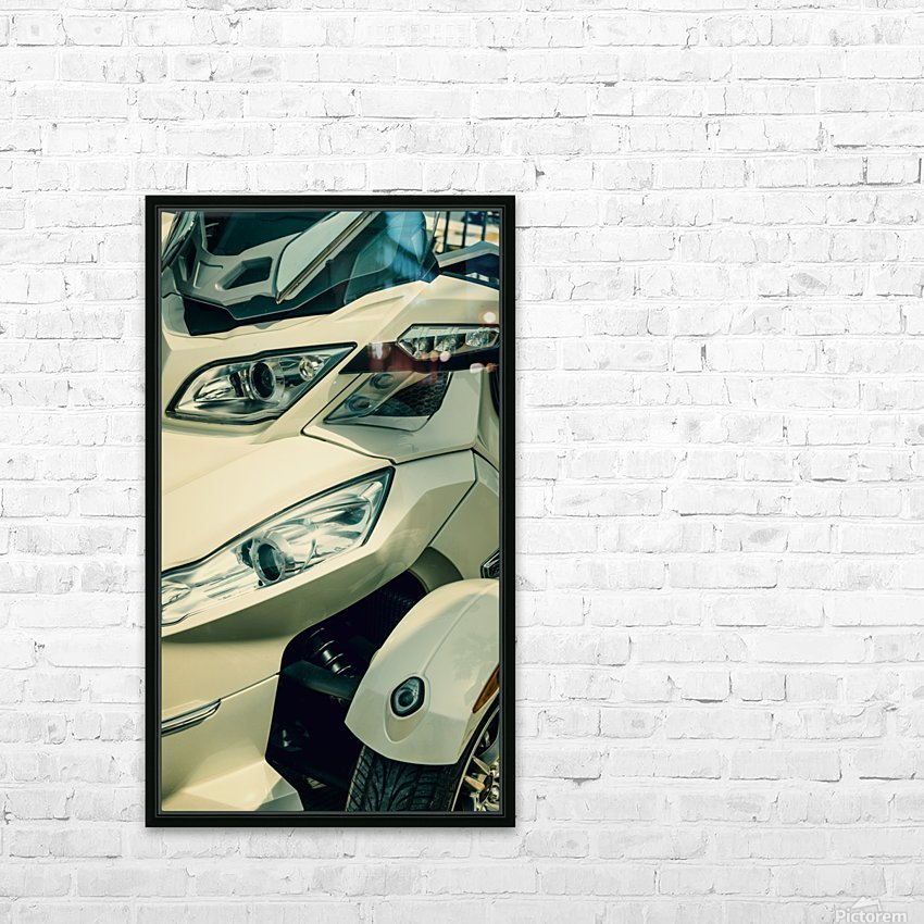 Head lights on the motor bike HD Sublimation Metal print with Decorating Float Frame (BOX)