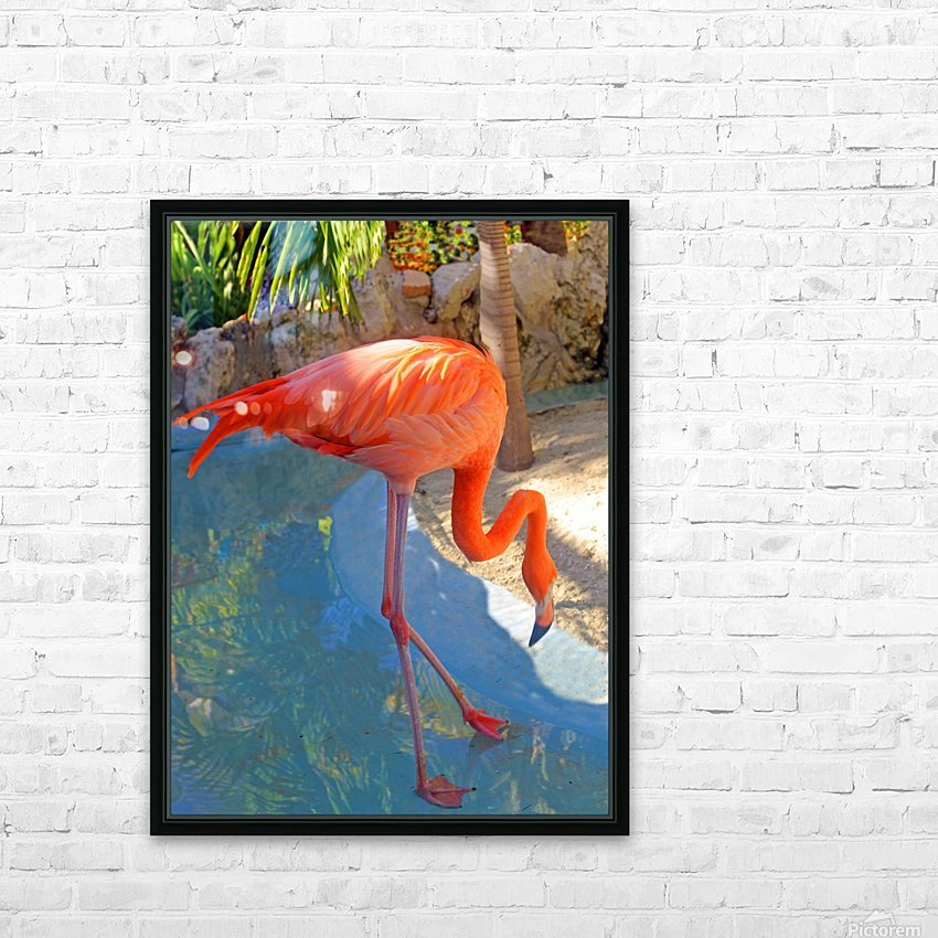 Living in Paradise HD Sublimation Metal print with Decorating Float Frame (BOX)