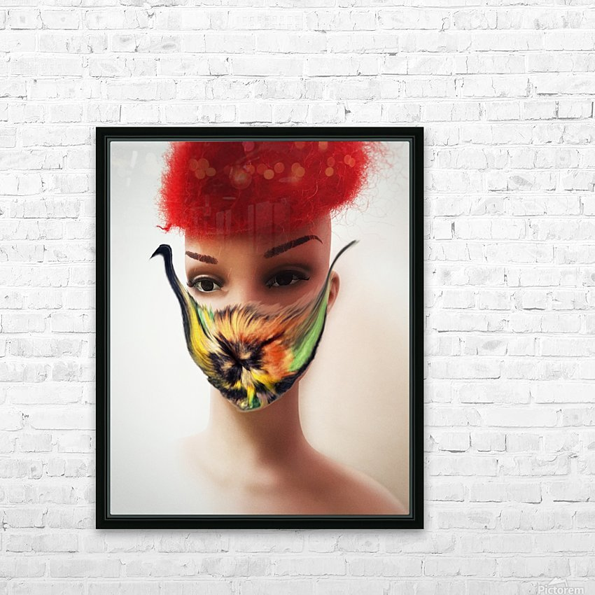 Covid 19 HD Sublimation Metal print with Decorating Float Frame (BOX)