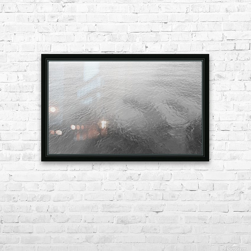 Open Waters B&W HD Sublimation Metal print with Decorating Float Frame (BOX)