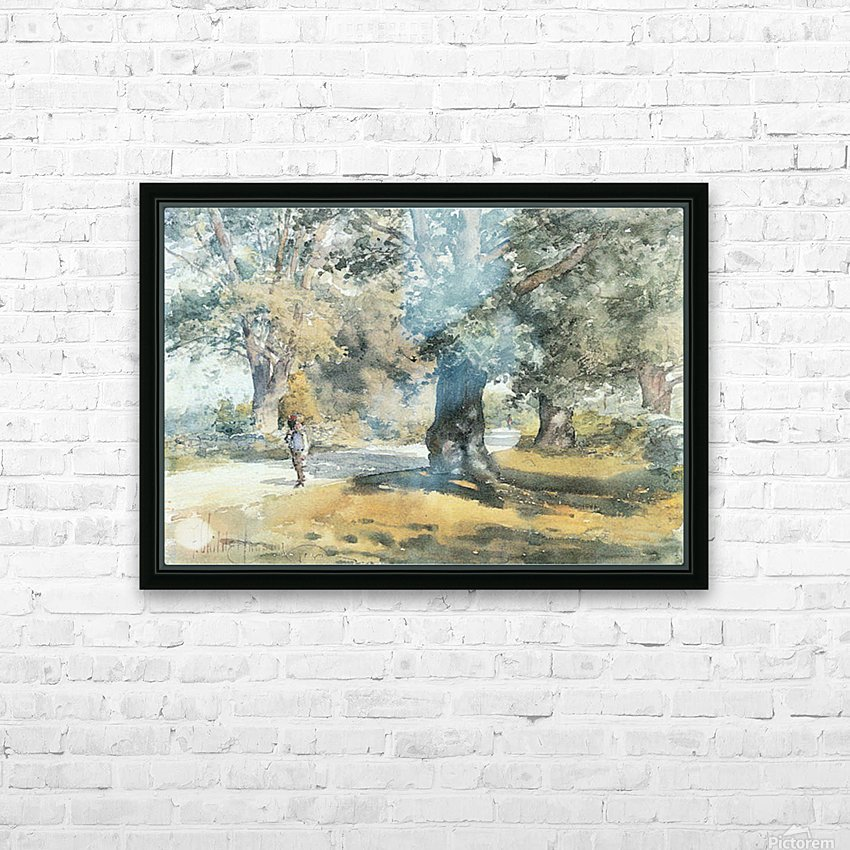 Wayside Inn, Mass. by Hassam HD Sublimation Metal print with Decorating Float Frame (BOX)