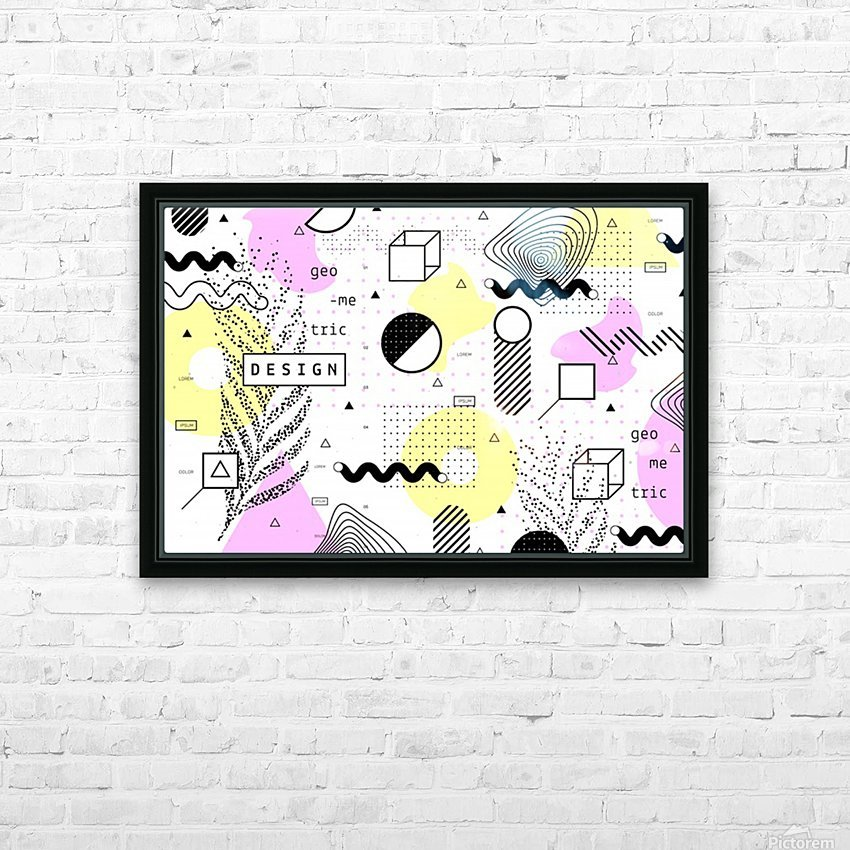 graphic design geometric background HD Sublimation Metal print with Decorating Float Frame (BOX)