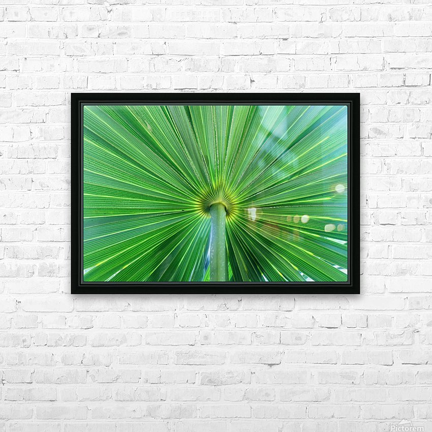 Leafy Green HD Sublimation Metal print with Decorating Float Frame (BOX)