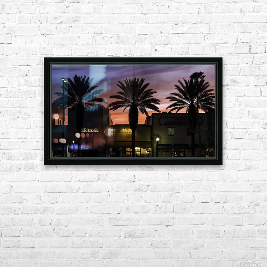 Night Vibes HD Sublimation Metal print with Decorating Float Frame (BOX)