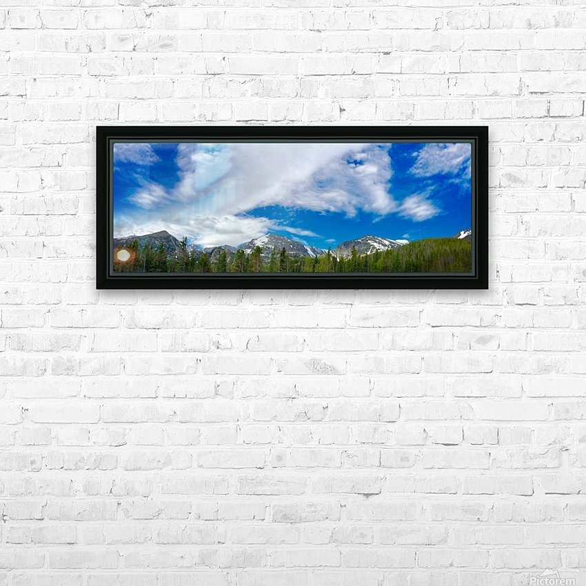 Rocky Mountain Range HD Sublimation Metal print with Decorating Float Frame (BOX)
