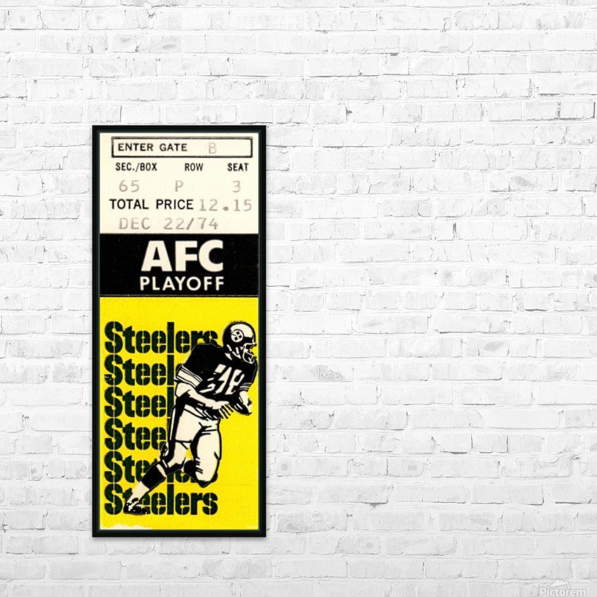 1974 Pro Football Season_AFC Playoff_Pittsburgh Steelers vs. Buffalo Bills_NFL Ticket Stub Art HD Sublimation Metal print with Decorating Float Frame (BOX)
