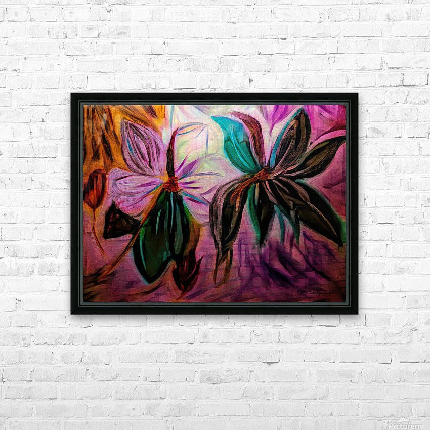 Magnolias  HD Sublimation Metal print with Decorating Float Frame (BOX)